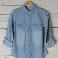 Freda Denim Top