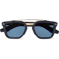 Jacques Marie Mage - Apache Square-Frame Acetate and Gold-Tone Sunglasses