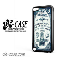 Bring Me The Horizon Lyrics DEAL-2110 Apple Phonecase Cover For Ipod Touch 5