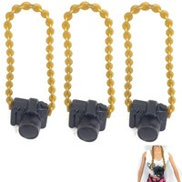 NK 3 Pcs/Set  New Fashion Doll Accessories Plastic Camera For Barbie Doll DIY Camera For BJD Doll For Monster high  Doll Toys