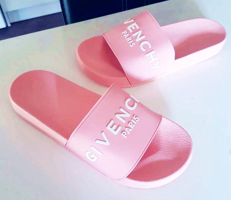 Image of GIVENCHY PARIS andals Comfortable Loose Slippers Pink B-CSXY