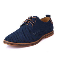 Perforated Suede Oxford Shoes
