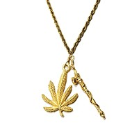 Mary Jane Peace Pipe Necklace
