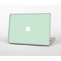 "The Light Green with White Polkadots Skin Set for the Apple MacBook Pro 13""   (A1278)"