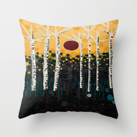 :: Red Moon Love Song :: Throw Pillow by :: GaleStorm Artworks ::