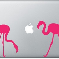 Flamingos laptop DECAL macbook iPad computer Gadget by EyvalDecal