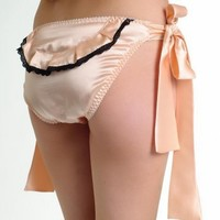 Gilda  Pearl Backstage on Broadway Tie Side Knickers - Full Knickers from Glamorous Amorous UK