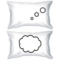 I'm Thinking About You Matching Couple Pillowcases
