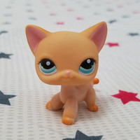 cute toys Lovely Pet shop animal figure Standing Cat Leopard Moon blue Eyes Short Hair kitty LPS 2006 classical