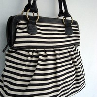 Handbag, Diaper bag,  Women bag, Travel bag, Black white denim