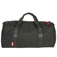 The Mayor Duffle Bag in Quilted Black & Red