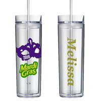 Mardi Gras 2016 Personalized Tumbler - Perfect Gift - Free Shipping