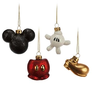 disney parks christmas ornament set best of mickey pants glove new with box