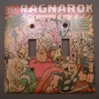 The Mighty Thor double toggle comic book light switch cover