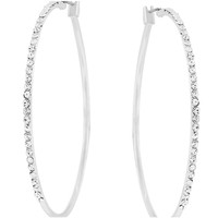 Gwen Classic Large Hoop CZ Gold Earrings  | 1.5ct | Cubic Zirconia | Silver