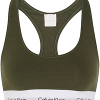 Calvin Klein Underwear - Modern Cotton stretch cotton-blend soft-cup bra