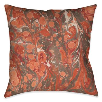 Persimmon Marble Decorative Pillow
