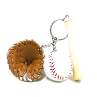 Baseball Keychain, Baseball Key Ring, Sports Keychain, Baseball Gift, Baseball League, Baseball Bat Keychain, Sports Gift, Baseball Glove