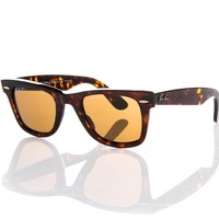 Ray-Ban Sunglasses New Authentic RB 2140 Wayfarer 902/57 - 50mm Brown Polarised
