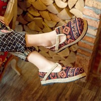 Stylish Bohemia Geometric Pattern Shoes [8678847757]