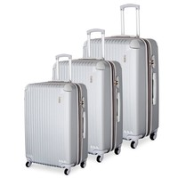 Luggage 3 Piece (ABS) Spinner Set w/ TSA lock and Global Tracking System