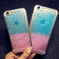 New Arrival Colorful Sparkling Star Soft TPU Back Cover case phone case for Iphone 6 6s 6 6s plus 8521