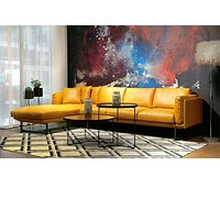 Luxury Modern Sectional Leather Sofa Furniture 3 Seater+Chaise