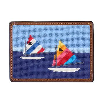 Day Sailor Needlepoint Credit Card Wallet by Smathers & Branson