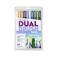 Limited Edition Dual Brush Pen Set, 10, Desert Flora