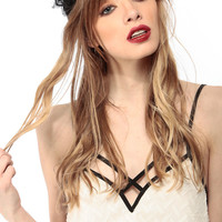 Black Lace Knotted Headband