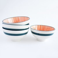 Urchin Orange/Navy Bowl