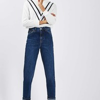 MOTO Dark Blue Mom Jeans | Topshop