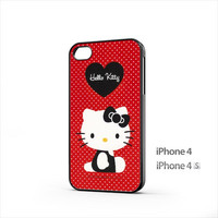 Red hello kitty iPhone 4 / 4s Case