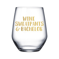 Wine Sweatpants and Bachelor - Gold