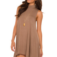 Shop Priceless Laila Dress - Mocha
