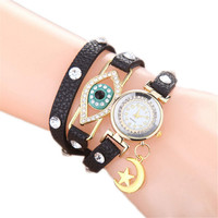 Ethnic Style Handmade Big Eyes Watch for Women Girls  Sports Casual Watches Best Christmas Gift