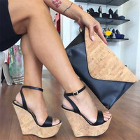 Wedge Sandals up to Size 12.5 (28.5cm EU 45)