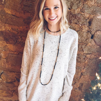 Speckled Simple Sweater