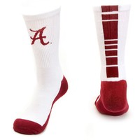 Mojo Alabama Crimson Tide Champ 1/2-Cushion Performance Crew Socks - Youth, Size: 7-9 (White)