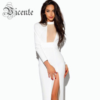 Pre-Order Now! 2015 New! Free Shipping! Elegant White Sexy Key Hole Mesh Patchwork Red Carpet  Gown Maxi Long Celebrity Dress