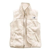 Women's Campshire Sherpa Vest in Vintage White & Dune Beige by The North Face