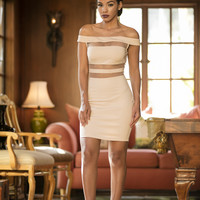 Through the Looking Glass Dress - Nude