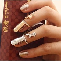 Shiny New Arrival Gift Jewelry Double Color Simple Strong Character Stylish Floral Fashion Ring [6573103943]