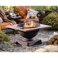 """Living Home Outdoors Toscano 36"""" Slate-Top Fire Pit"""