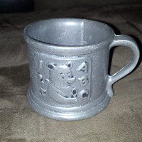 Vintage Child's Pewter Cup, Carson Mug