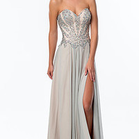 Floor Length Strapless Sweetheart Terani Gown
