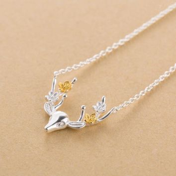 Gift New Arrival Shiny Jewelry Stylish Christmas Gifts 925 Silver Korean Pendant Necklace [10467598036]