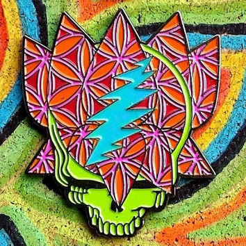 Grateful Dead - Steal your Lotus hat pin