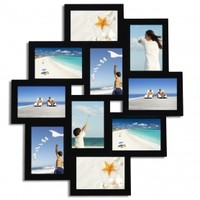 Adeco 10-Opening Collage Picture Frame