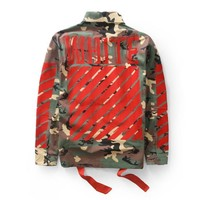 Off White Long Sleeve Shirt Flocking Camouflage Jacket [10262481363]